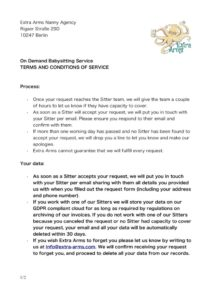 thumbnail of On Demand Babysitting T&Cs for Website 2020